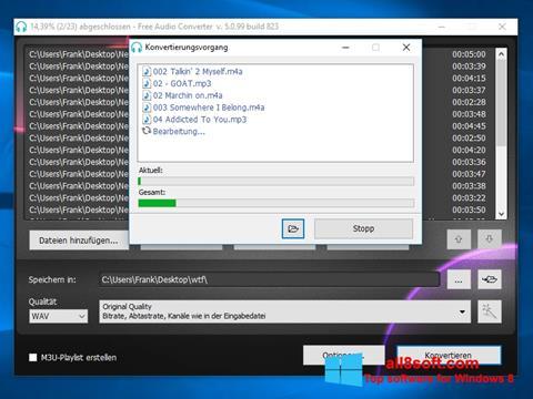 Ekran görüntüsü Free Audio Converter Windows 8