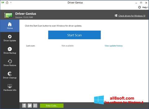Ekran görüntüsü DriverScanner Windows 8
