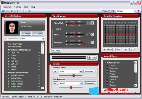 Ekran görüntüsü MorphVOX Pro Windows 8