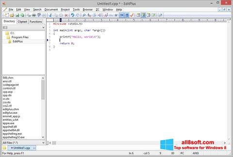 Ekran görüntüsü EditPlus Windows 8