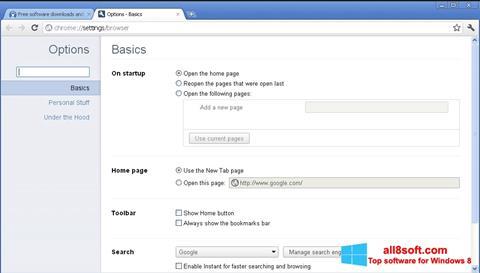 Ekran görüntüsü Google Chrome Canary Windows 8