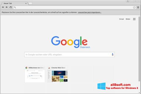 Ekran görüntüsü Google Chrome Windows 8
