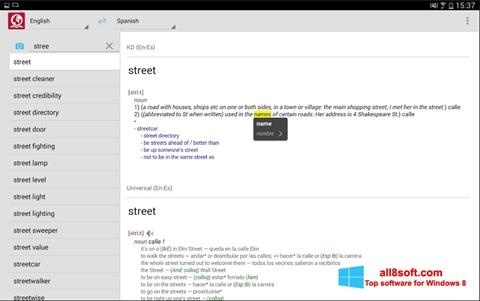 Ekran görüntüsü ABBYY Lingvo Windows 8
