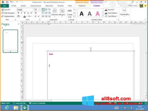 Ekran görüntüsü Microsoft Publisher Windows 8