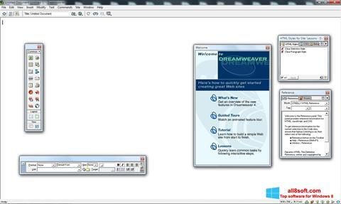 Ekran görüntüsü Macromedia Dreamweaver Windows 8