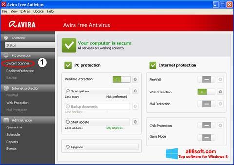 Ekran görüntüsü Avira Windows 8
