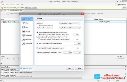 Ekran görüntüsü GoodSync Windows 8