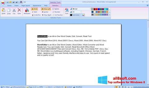 Ekran görüntüsü DocX Reader Windows 8