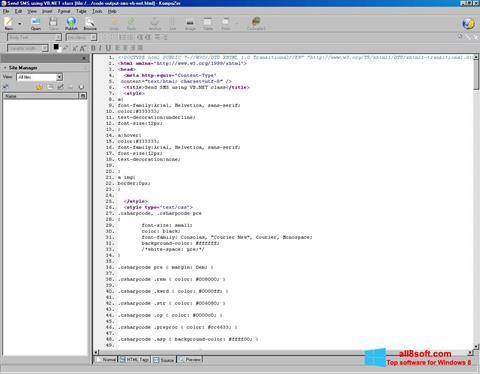 Ekran görüntüsü KompoZer Windows 8