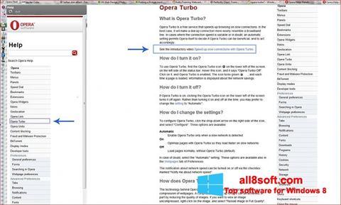 Ekran görüntüsü Opera Turbo Windows 8