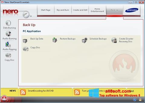 Ekran görüntüsü Nero Windows 8