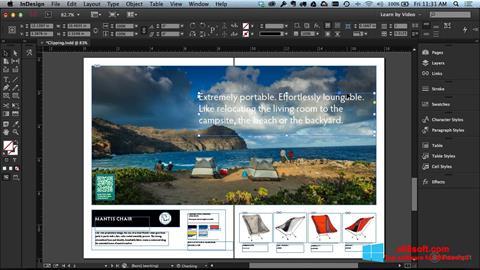 Ekran görüntüsü Adobe InDesign Windows 8