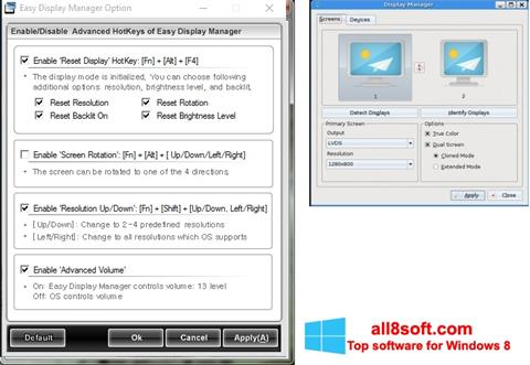 Ekran görüntüsü Easy Display Manager Windows 8