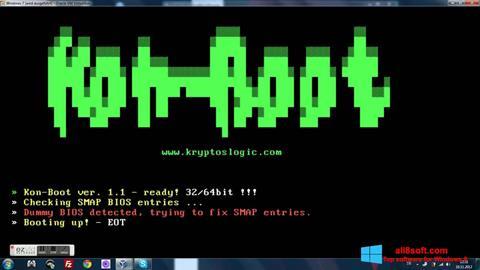 Ekran görüntüsü Kon-Boot Windows 8
