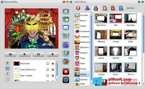 Ekran görüntüsü WebcamMax Windows 8